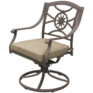Alcott Hill Lenzburg Swivel Patio Dining Chair with Cushion