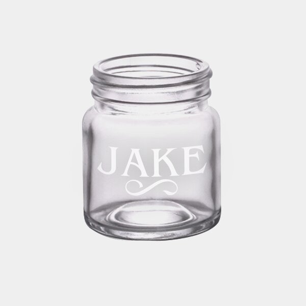 Monogramonline Inc Personalized 2 Oz Glass Mason Jar Wayfair