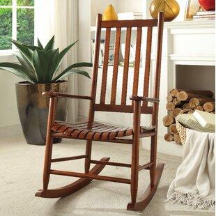 Boughton Oak Rocking Chair Highland Dunes