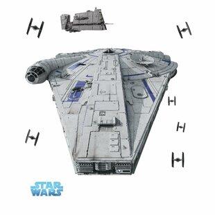 Star Wars Han Solo Millennium Falcon Giant 10 Piece Wall Decal Set