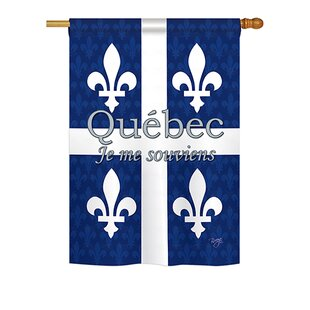 Quebec 2-Sided Vertical Flag by Breeze Decor