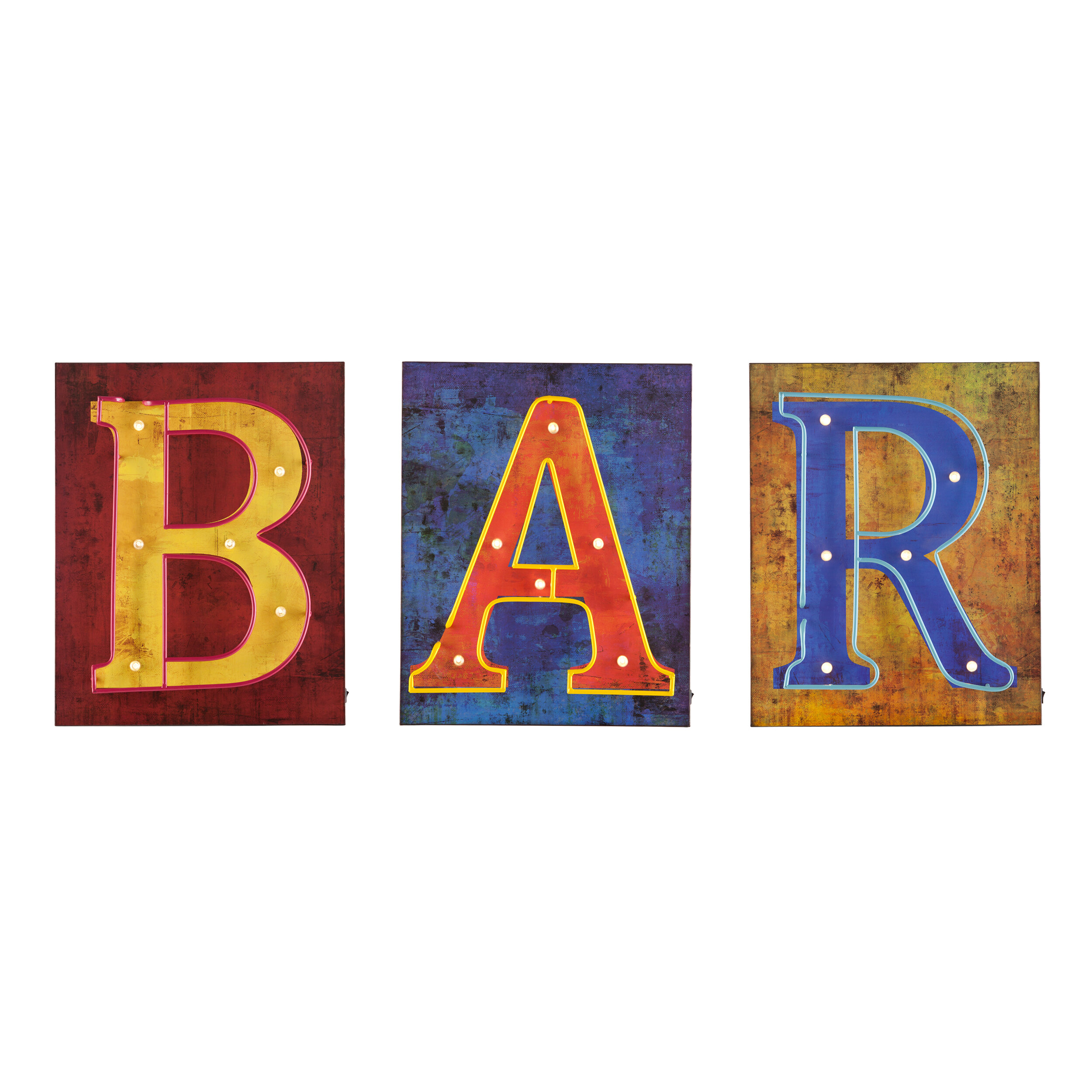 Williston Forge 3 Piece Bar Marquee Sign & Reviews | Wayfair