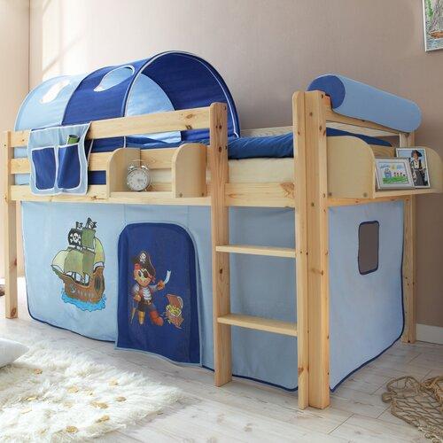 Hochbett Freer mit Vorhang| 90 x 200 cm Roomie Kidz | Kinderzimmer > Kinderbetten > Hochbetten | Roomie Kidz