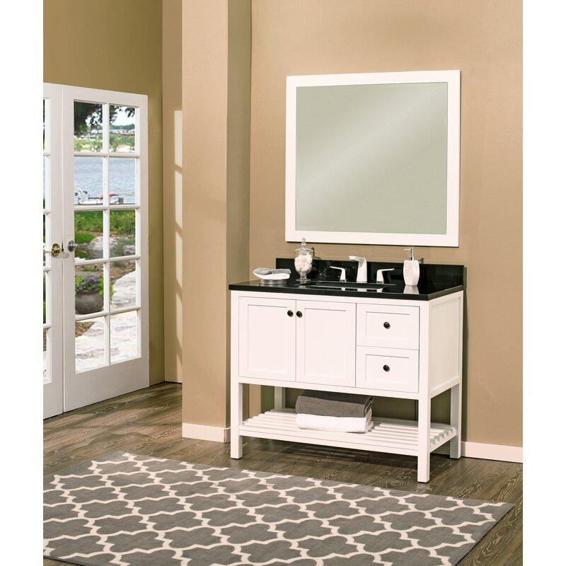 Hampton Bay 42 Single Bathroom Vanity With Mirror