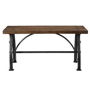 Trent Austin Design Amalda Wood and Metal Bench