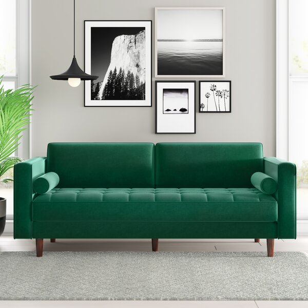 Modern & Contemporary Olive Green Sofa | AllModern