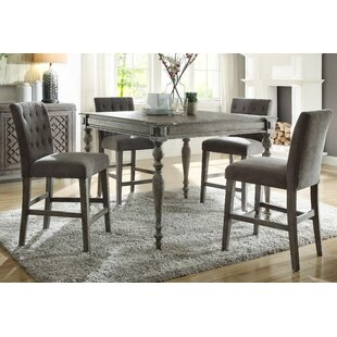 Bungalow Rose Silverheels Counter Height 5 Piece Pub Table Set