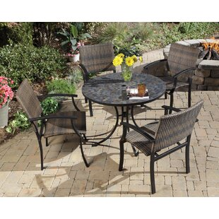 Sequoyah 5 Piece Outdoor Dining Set by Loon Peak
