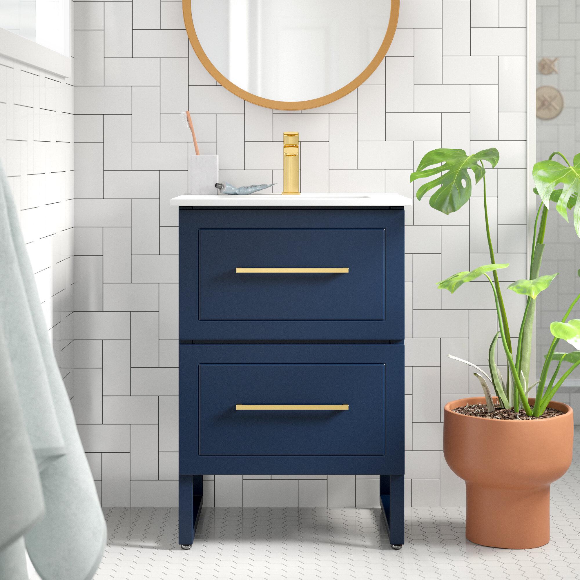 Foundstone 24 Single Bathroom Vanity Set Reviews Wayfair