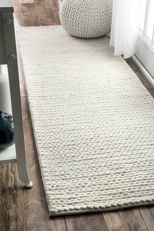 Amazing Arviso Hand Woven Wool Off White Area Rug
