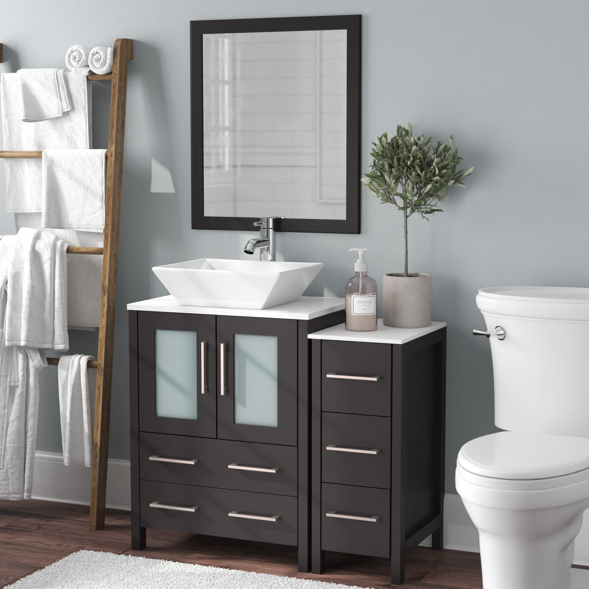 Peachy Megaira 36 Single Bathroom Vanity Set With Mirror Download Free Architecture Designs Scobabritishbridgeorg