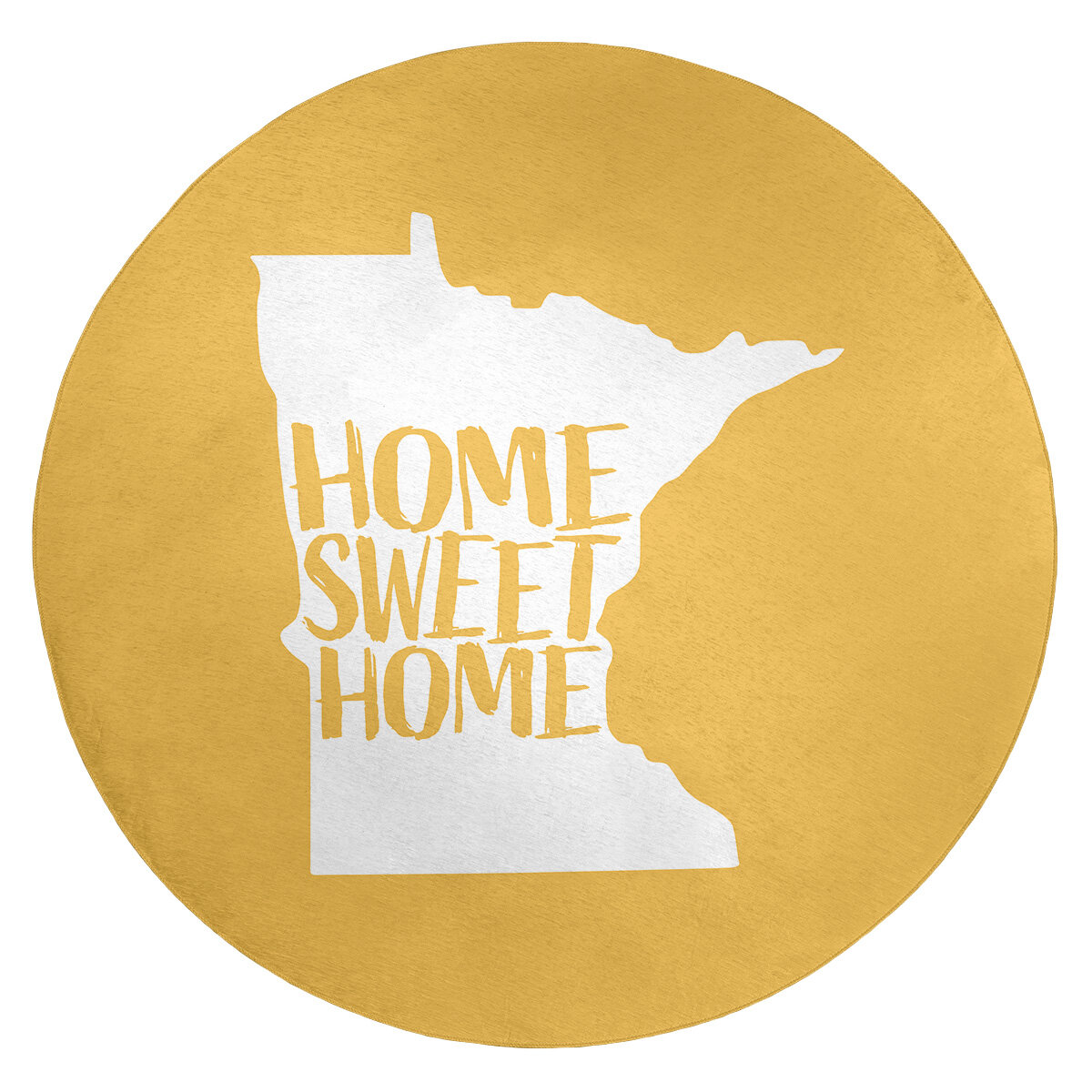 Home Sweet Minnesota Poly Chenille Rug