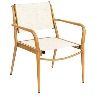 Daytona Sling Stacking Patio Dining Chair (Set of 4) by Woodard