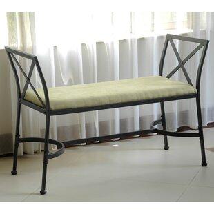 International Caravan Mandalay Upholstered Bench