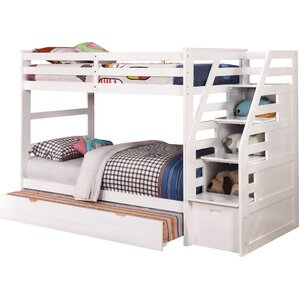 cosmo twin bunk bed with trundle and storage