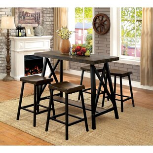 Brick 5 Piece Counter Height Dining Set Gracie Oaks