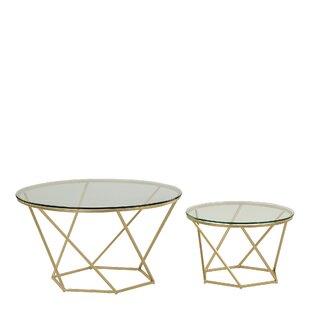 Levingston 2 Piece Coffee Table Set By Hykkon