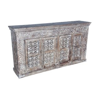Aveliss Carved 4 Door Sideboard Bungalow Rose