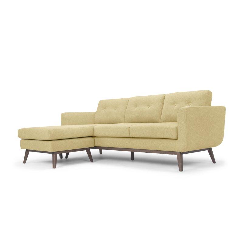 Brayden Studio  Varennes Reversible Sectional Upholstery Color: Orleans Yellow
