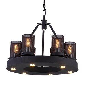 Kenedi 6-Light Shaded Chandelier by CWI Lighting