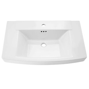 American Standard Townsend Rectangular Pedestal Bathroom Sink with Overflow