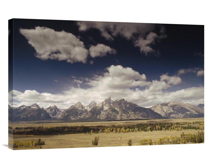 East Urban Home Wyoming Grand Teton National Park Snake River Valley Teton Range Photographic Print On Wrapped Canvas Wayfair
