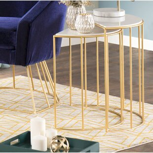 Compare Lystra 2 Piece Nesting Tables By Everly Quinn