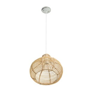 wicker pendant light. Niamh Continuous Weave Wicker Dome 1-Light Teardrop Pendant Light T