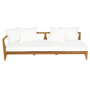Limited Teak Left Corner Patio Sectional with Cushion