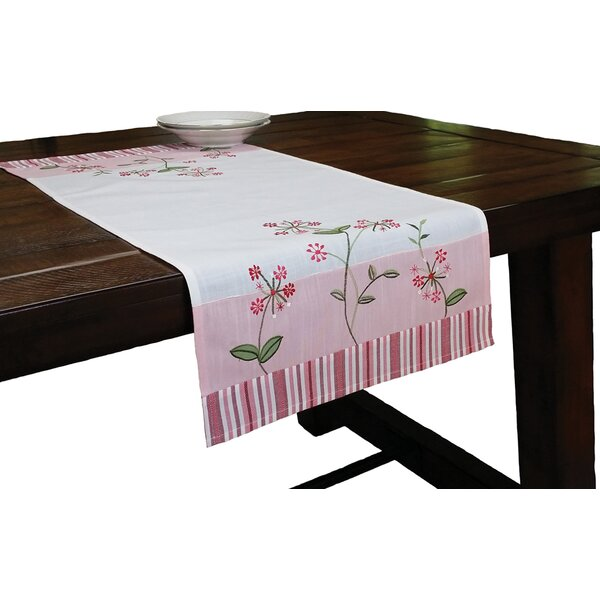 Xia Home Fashions Whimsy Embroidered Pattern Table Runner Reviews Wayfair