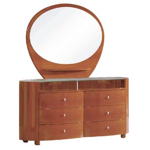 Bernstein 6 Drawer Double Dresser with Mirror