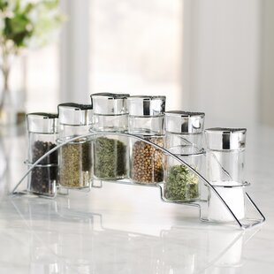 Wayfair Basics 6 Jar Spice Jar & Rack Set