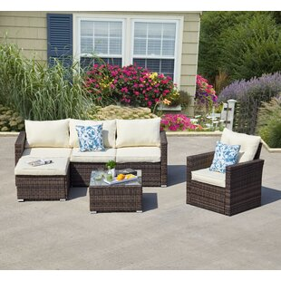 Roldao 4 Piece Sectional Seating Group with Cushions