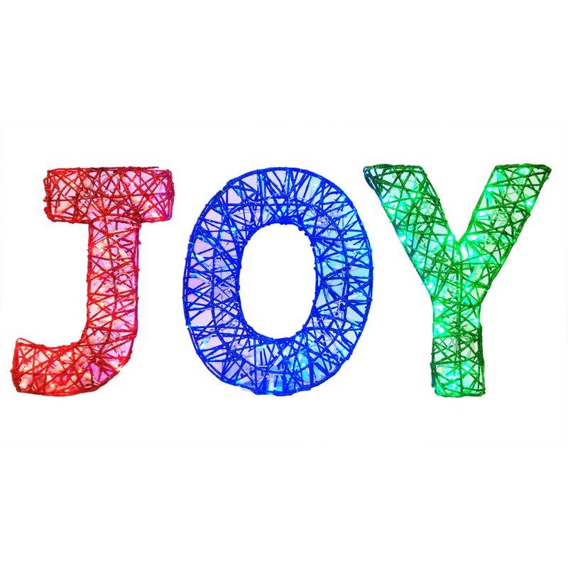 Brite Star Spun Glitter 100 Light Joy Sign Silhouette Reviews