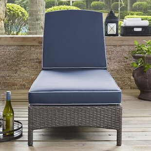 Mistana Brandy Outdoor Chaise Lounge with Cushion