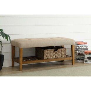 Longshore Tides Brisson Wood Bench with Shoe Storage