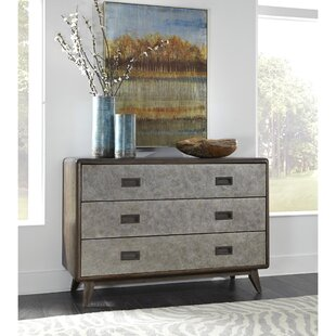 Jimmy 3 Drawer Double Dresser by 17 Stories