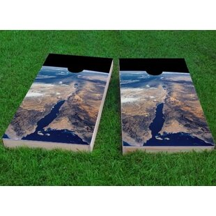 Custom Cornhole Boards Earth from Space Cornhole Game (Set of 2)