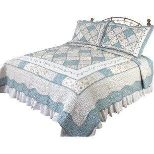 Calton Beige & Blue Quilt