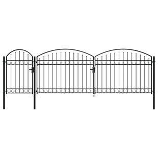 Juhi 17' X 6' (4m X 2.5m) Metal Gate By Sol 72 Outdoor
