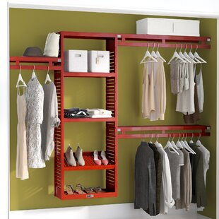 "96"" W - 120""W Deep Solid Wood Simplicity Closet System"