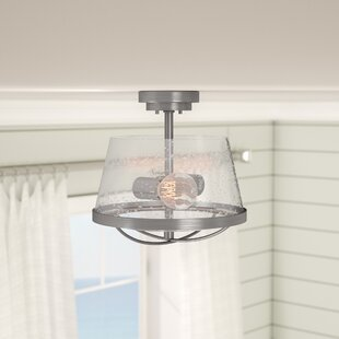 Regan 2-Light Semi Flush Mount by Beachcrest Home
