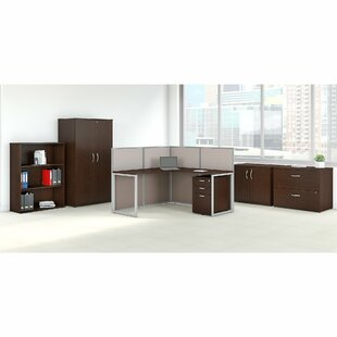 6 Piece L-Shape Desk Office Suite