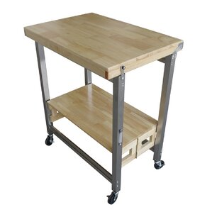 Kitchen Cart with Wood Top by Oasis Concepts