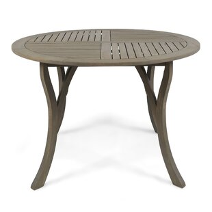 Bungalow Rose Vanetten Outdoor Wooden Dining Table