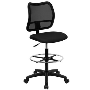 Wolbert Mid-Back Mesh Drafting Chair by Symple Stuff Top Reviews