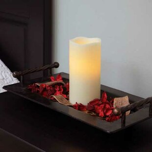 Melted Wax Pillar Candle