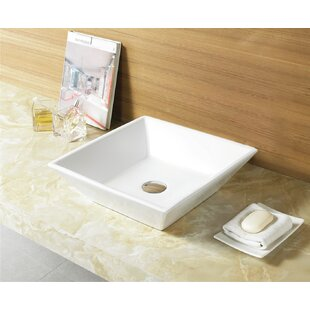 Best Deals Ceramic Square Vessel Bathroom Sink By Royal Purple Bath Kitchen