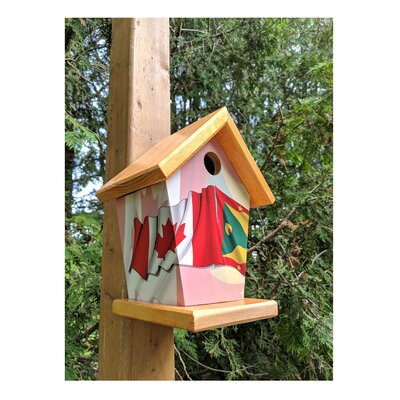 Buy A Birdhouse Canada and Grenada 10.5 in x 8 in x 6.5 in Birdhouse