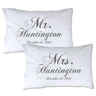 Personalized Mr & Mrs Pillowcase (Set of 2)